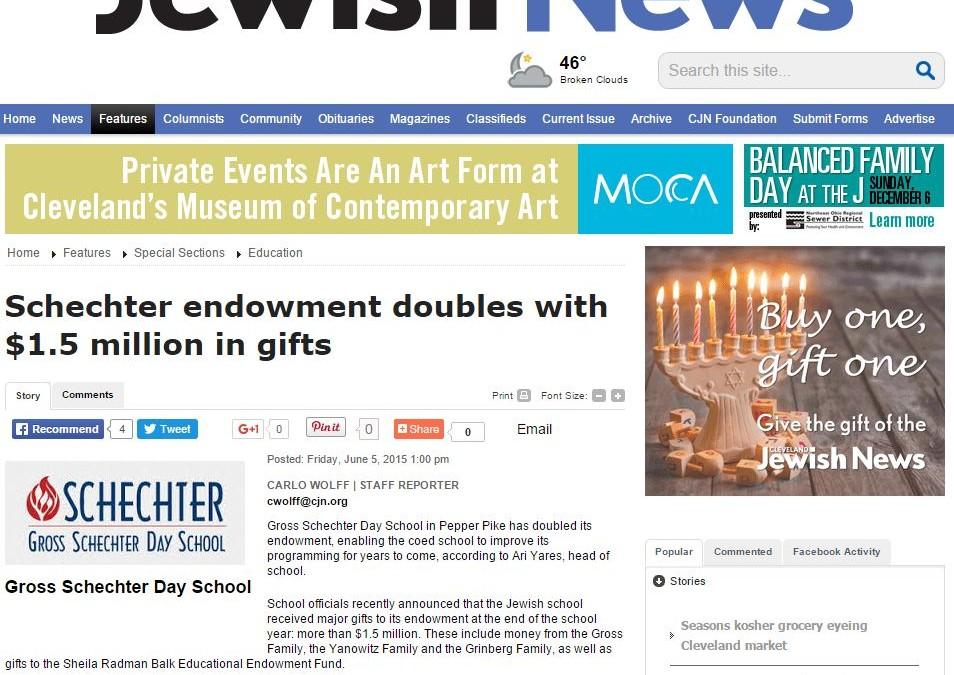 Schechter-doubles-endowment