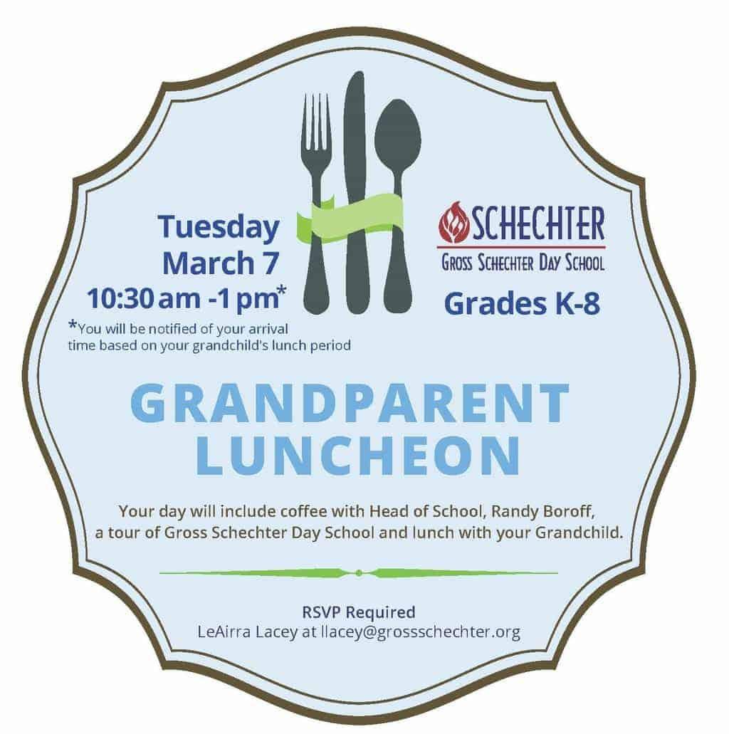 grandparent luncheon invite gross schechter